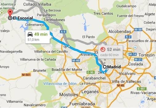 el Escorial Map by Naked Madrid